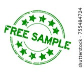 grunge green free sample with... | Shutterstock .eps vector #755484724