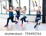 total body resistance exercise... | Shutterstock . vector #755492761