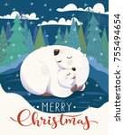 Vector Christmas Card With...
