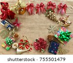 the concept of christmas...   Shutterstock . vector #755501479