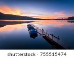 amazing sunrise view at bali... | Shutterstock . vector #755515474