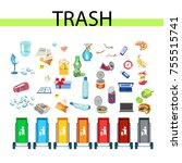 collection of garbage and... | Shutterstock .eps vector #755515741