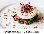 a goats cheese starter at a... | Shutterstock . vector #755518501