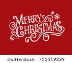 merry christmas vector text... | Shutterstock .eps vector #755519239