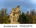 Small photo of Hermaphroditus and Salmacis baroque statue in Lazienki Park, Warsaw
