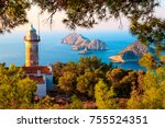 gelidonya lighthouse on lycian... | Shutterstock . vector #755524351