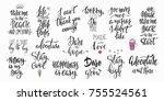 lettering photography overlay... | Shutterstock .eps vector #755524561