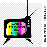 world television day | Shutterstock .eps vector #755525149
