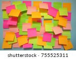 untidy of idea pool from... | Shutterstock . vector #755525311