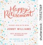 happy retirement. party... | Shutterstock .eps vector #755527069