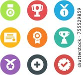 origami corner style icon set   ... | Shutterstock .eps vector #755529859