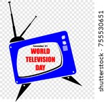 world television day | Shutterstock .eps vector #755530651