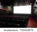 cinema interior of movie... | Shutterstock . vector #755533975