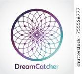Color Dreamcatcher Circle Logo
