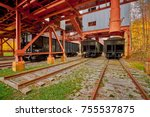 Small photo of Coal Hopper Cars Under Tipple at Blue Heron Mining Community, KY