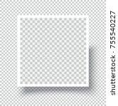 squre blank photo frame... | Shutterstock .eps vector #755540227