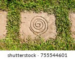 Spiral On Square Stone As A...