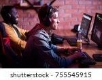 favorite hobby. selective... | Shutterstock . vector #755545915