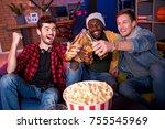 informal party. joyful cute... | Shutterstock . vector #755545969