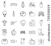 improve your health icons set.... | Shutterstock .eps vector #755550019