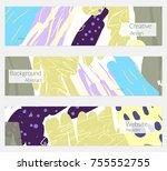 hand drawn creative universal... | Shutterstock .eps vector #755552755