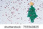 christmas and happy new year... | Shutterstock . vector #755563825