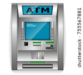 atm   automated teller machine. ... | Shutterstock .eps vector #755567881