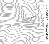 wave lines pattern abstract...   Shutterstock .eps vector #755569714