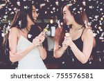 celebration party group of two... | Shutterstock . vector #755576581
