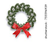 christmas  new year. green...   Shutterstock . vector #755596939