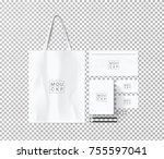 corporate identity template set.... | Shutterstock .eps vector #755597041