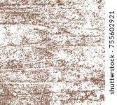brown watercolor paint splashes.... | Shutterstock .eps vector #755602921