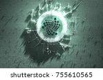 a microscopic closeup concept... | Shutterstock . vector #755610565