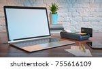 note book mockup for marketing...   Shutterstock . vector #755616109