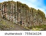 northern ireland  side view of...   Shutterstock . vector #755616124