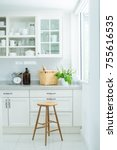 a kitchen is a room or part of... | Shutterstock . vector #755616535