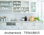 a kitchen is a room or part of...   Shutterstock . vector #755618815