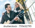 beautiful young woman looking... | Shutterstock . vector #755632795