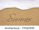 Beach Background With Summer...