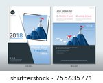 covers design with space for...   Shutterstock .eps vector #755635771