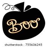 happy halloween boo pumpkin | Shutterstock .eps vector #755636245