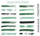 modern watercolor daubs set ... | Shutterstock .eps vector #755637949