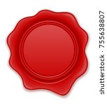 red wax stamp vector...   Shutterstock .eps vector #755638807