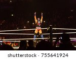 Small photo of Hamburg, Germany - November 10, 2017: The Match for the Raw Cruiserweight Title between Enzo Amore vs. Kalisto during WWE Live Tour 2017