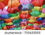 Ceiling Of Colorful Umbrellas...