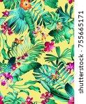 seamless bright multi color... | Shutterstock . vector #755665171
