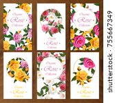 celebration postcard design set ... | Shutterstock .eps vector #755667349