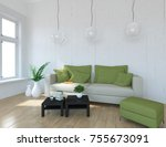 white scandinavian room... | Shutterstock . vector #755673091