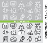 web icons set   business | Shutterstock .eps vector #755673484