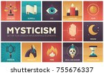 mysticism   set of flat design... | Shutterstock .eps vector #755676337